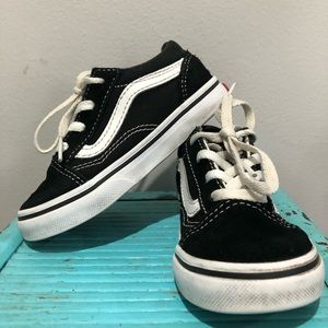 Vans Old Skool black and white toddler 7
